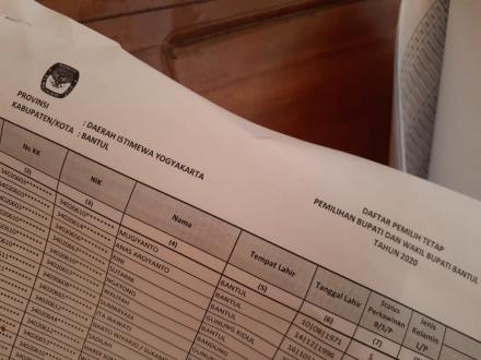 PPS Desa Gilangharjo Umumkan Nama-Nama KPPS Terpilih se-Desa Gilangharjo
